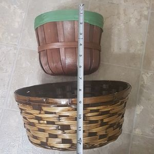 Bundle of 2 wicker baskets